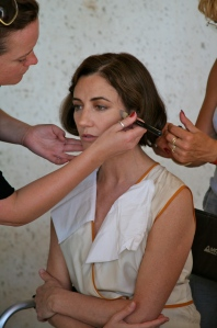Orla Brady make up session - Copyright Celina Lafuente de Lavotha
