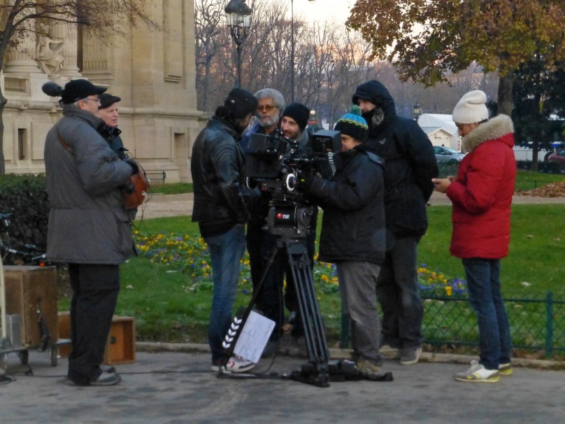 Filming crew at Grand Palais December 13, 2013 @CelinaLafuente DeLavotha