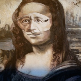 Poster of Hollande as La Gioconda