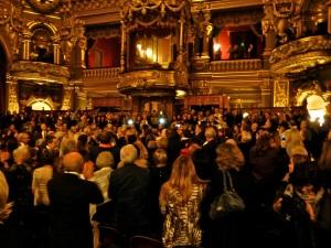 Sarkozy's entrance ovation