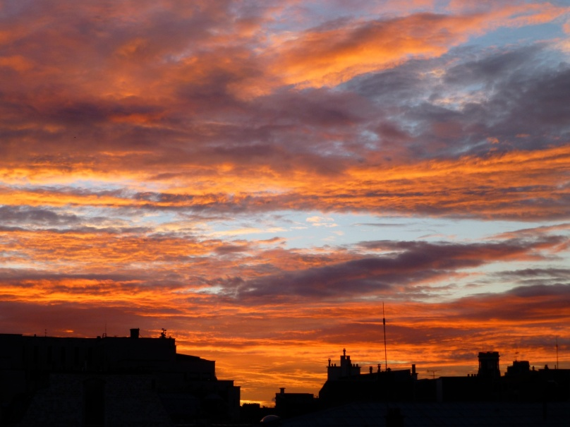 Sunrise view from the Montalembert Hotelbert, 7th Paris
