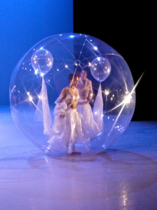 February 2014 - La Belle at the Studio of the Ballets de Monte-Carlo - Aurora arriving in a transparent balloon