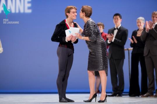 David receiving the award