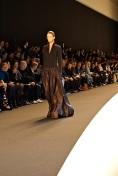 Chris Herrmann - Black wool jersey silk taffeta gown - Mini Ai pochette in torro (36)