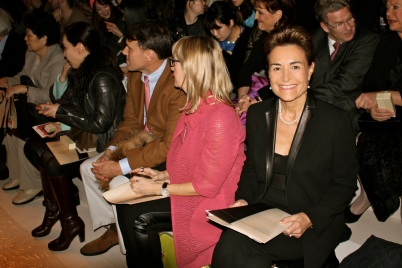 March 2014 - Celina on first row of AKRIS fashion show at the Grand Palais in Paris