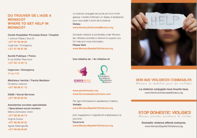 Stop domestic Violence brochure page 1