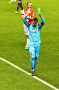 Flavio Roma saluting the fans