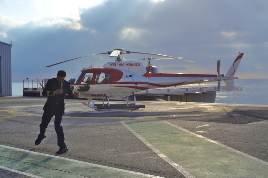 Nico de Monaco dancing at the Heliport