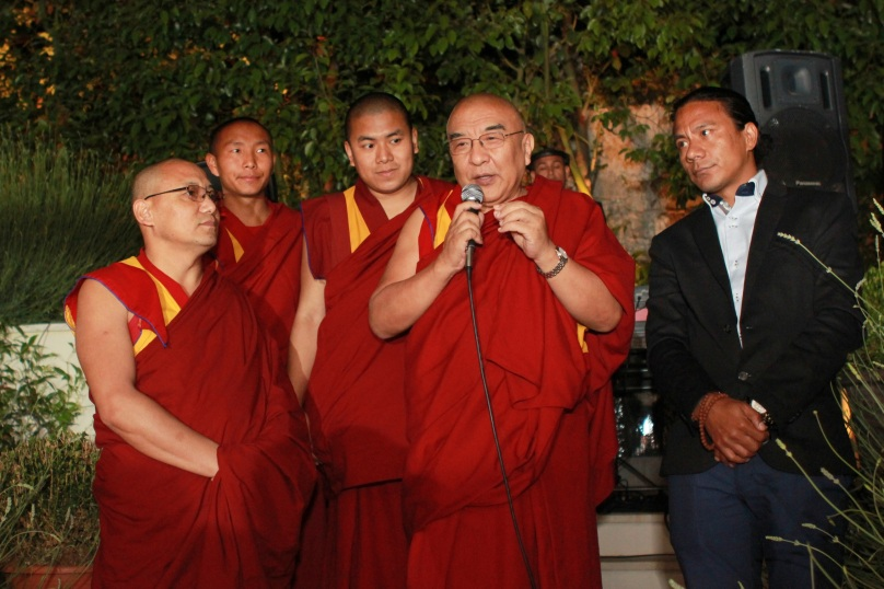 Tibetan monks brought a message of peace