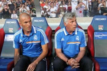 Zizou with Ancelotti