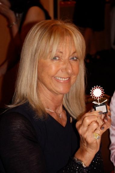 Francien Giraudi with her Bouquet's award