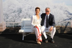On board the Yacht Club of Monaco on inauguration day