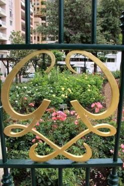 One of the monogrammed gates @CelinaLafuenteDeLavotha
