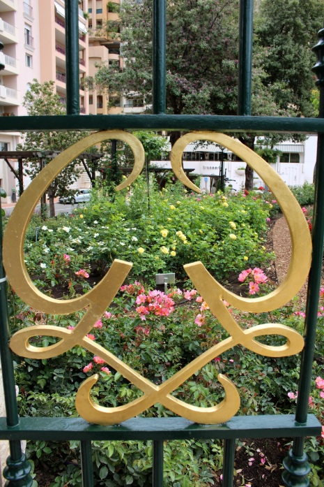 One of the monogrammed gates @CelinaLafuenteDeLavotha
