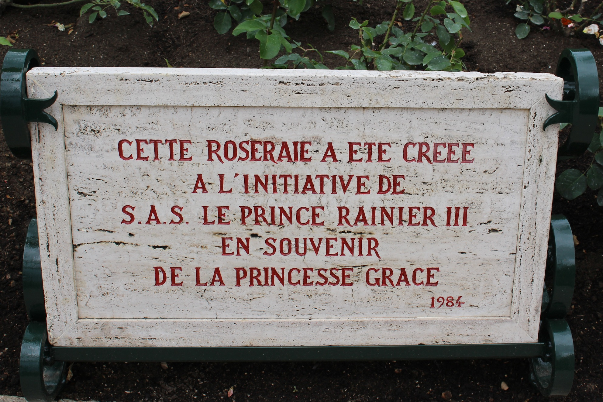 Rose Garden Creations: Plaque Of The Creation Of The Rose Garden In 1984