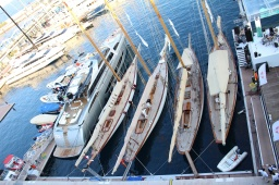The beautiful sailboats docked by the new Yact Club (@CelinaLafuenteDeLavotha)
