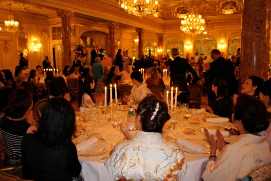 View of the Salle Belle Epoque during the award's gala dinner