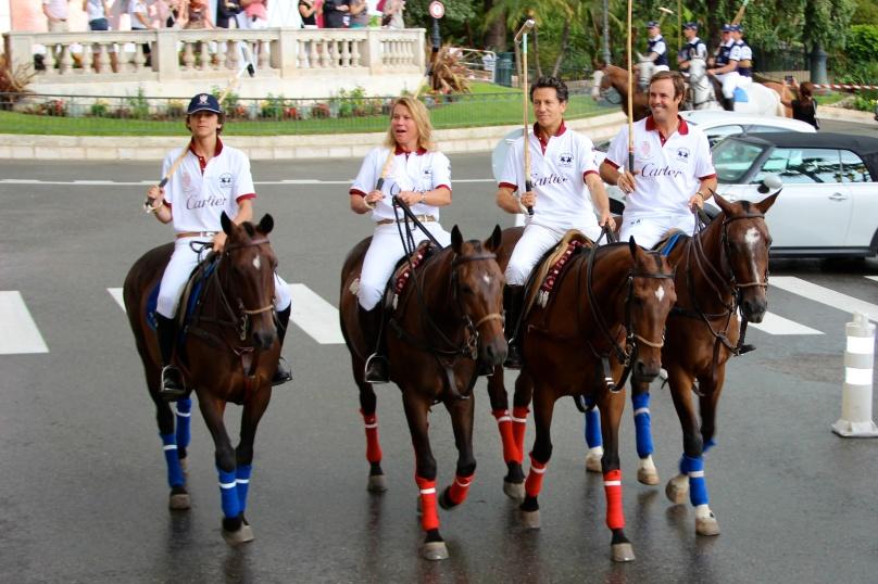 Cartier team during the parade on the Casino Square in Monaco @CelinaLafuenteDeLavotha