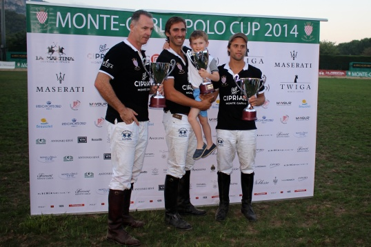 1st Cipriani the winning team @CelinaLafuenteDeLavotha2014