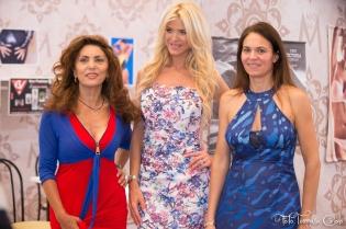 Eleonora Vallone of Neo Fashion, Victoria Silvstedt and Federica Nardoni Spinetta @CMM