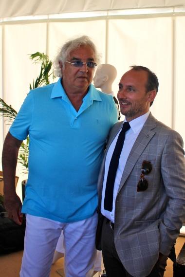 Flavio Briatore with Enrico Roselli CEO LM Europe @CelinaLafuenteDeLavotha2014