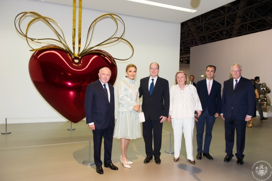 Francois Pinault, Farah Palhavi, HSH Prince Albert, Maryvonne, Martin Bethelot and HE Michel Roger @Palais Princier