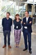Frederic Casanova art choreographer (L), Sylvie Biancheri General Director GF and Martin Bethenod curator @CelinaLafuenteDeLavotha
