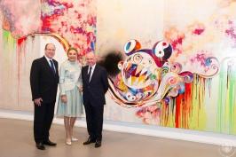 HSH Prince Albert, Farah Palhavi and Francois Pinaulat @Palais Princier