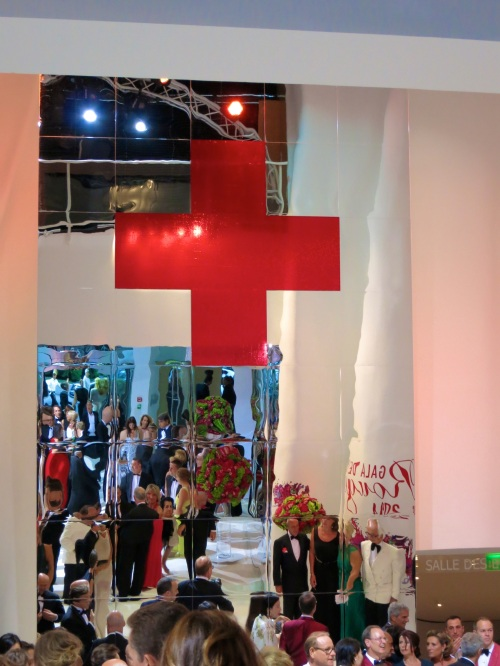 Bright red cross symbol of the association @CelinaLafuenteDeLavotha