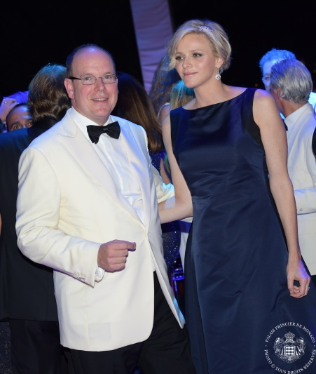 HSH Prince Albert and HSH Princess Charlene on the dance floor @Palais Princier Monaco