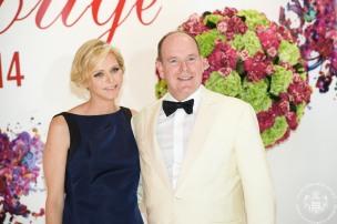 HSH Princess Charlene and HSH Prince Albert at the Red Cross Ball @Palais Princier Monaco