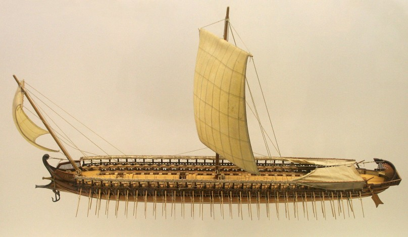 Model of a Greek Trireme used by Phoenicians
