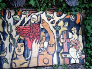 Mural by Fernand Fleger 1952, in the patio @CelinaLafuenteDeLavotha