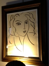 Portrait of a Woman by Henri Matisse in the indoor dinning room @CelinaLafuenteDeLavotha