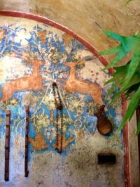 Wall fresco at the Bar @CelinaLafuenteDeLavotha
