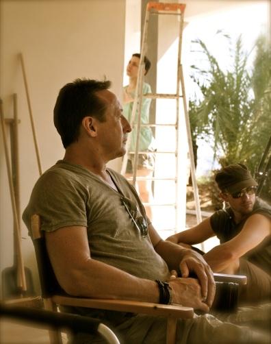 Julian Lenon on the set of The Price of Desire in Roquebrune @CelinaLafuenteDeLavotha