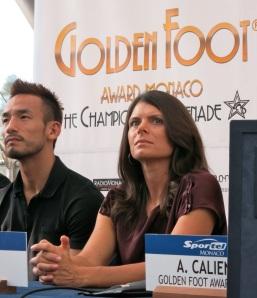 Mia Hamm first woman to receive Golden Foot Award @CelinaLafuenteDeLavotha