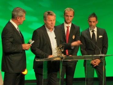 Valere Germain and Marco Simone at theGolden Podium Awards
