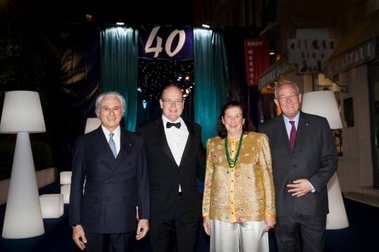 Adriano Ribolzi, HSH Prince Albert, Niky Ribolzi and HE Michel Roger @Sidney Guillemin