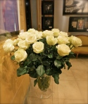 Bouquet of 40 White Roses @CelinaLafuenteDeLavotha