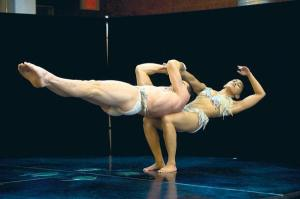 Jerome Le Baut and Anna Vicente in Statue from the show Quidam, Cirque du Soleil