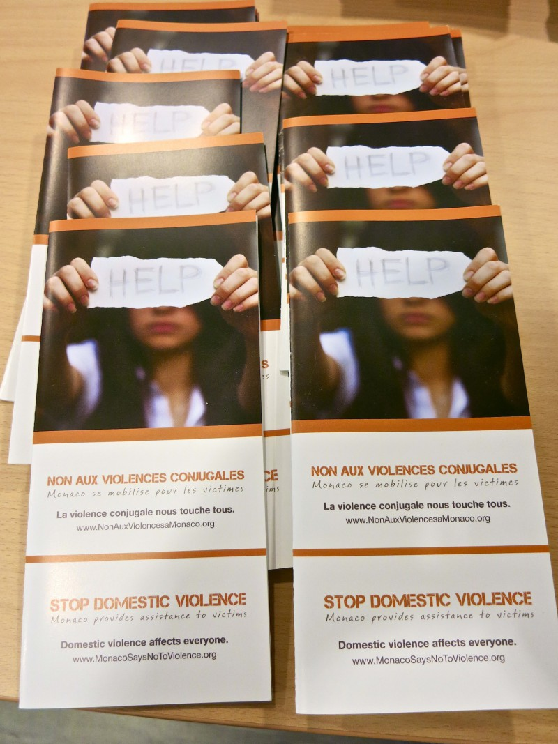 Monaco Says No to Violence pamphlet