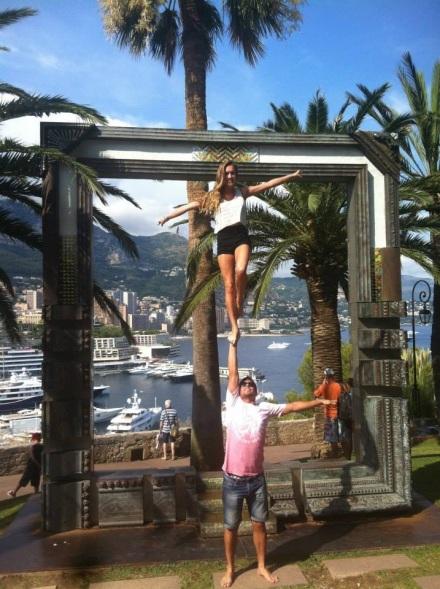 Charlotte and Nicolas in the Rock in Monaco