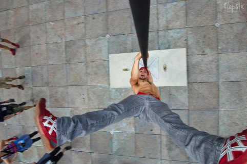 Upside down acrobatics