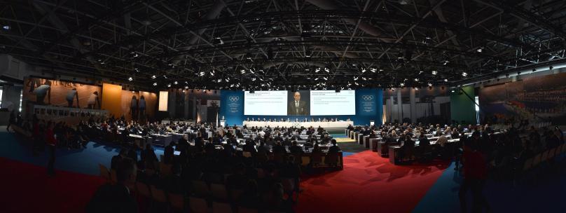 The participants at the 127th session at the Grimaldi Forum in Monaco