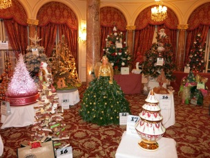 A magic forest of original Christmas Trees