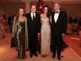 Donatella Campioni, HSH Prince Albert II, Sandrine Garbagnaty and Michael Peagram