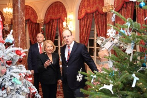 Louisette Levy Soussan with HSH Prince Albert II of Monaco