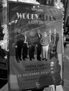 Poster announcing Woody Allen and Eddy Davis New Orleans Jazz Band at the Salle Garnier in Monte-Carlo @CelinaLafuenteDeLavotha