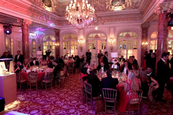 The Salle Belle Epoque decorated for the Christmas Ball